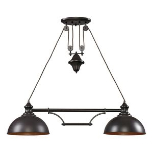 Farmhouse 2 Light Island In Oiled Bronze by Elk Lighting