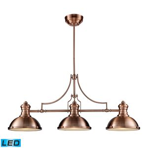 Chadwick 3-Light Billiard/Island Light In Antique Copper  by Elk Lighting