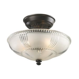 Restoration 3-Light Semi-Flush In Oiled Bronze by Elk Lighting