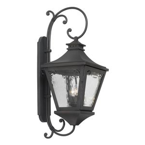 Outdoor Wall Lantern Manor Collection In Solid Brass In A Charcoal Finish by Elk Lighting