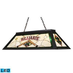 Tiffany Game Room-Lighting 4-Light Billiard/Island Light In Tiffany Bronze Metal by Elk Lighting