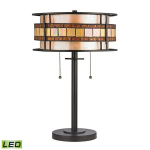 Annondale Collection 2 Light Table Lamp In Tiffany Bronze by Elk Lighting
