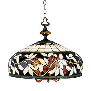 English Ivy 6/1 Light Pendant In Tiffany Bronze by Elk Lighting