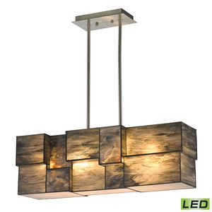 Cubist Collection 4 Light Chandelier In Brushed Nickel by Elk Lighting