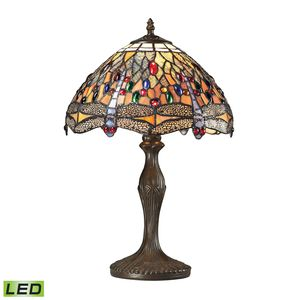 Dragonfly Collection 1 Light Table Lamp In Dark Bronze by Elk Lighting