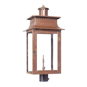 Outdoor Gas Post Lantern Maryville Collection In Solid Brass In An Aged Copper Finish. by Elk Lighting