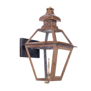 Outdoor Gas Wall Lantern Bayou Collection In Solid Brass In An Aged Copper Finish. by Elk Lighting