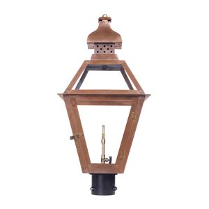 Outdoor Gas Post Lantern Bayou Collection In Solid Brass In An Aged Copper Finish. by Elk Lighting