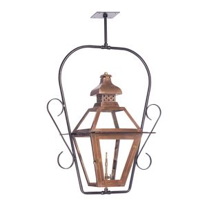 Outdoor Gas Ceiling Lantern Bayou Collection In Solid Brass In An Aged Copper Finish. by Elk Lighting