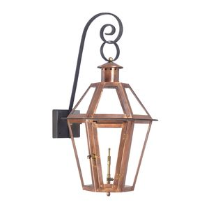 Outdoor Gas Post Lantern Grande Isle Collection In Solid Brass In An Aged Copper Finish. by Elk Lighting