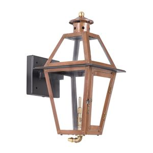 Outdoor Gas Wall Lantern Grande Isle Collection In Solid Brass In An Aged Copper Finish. by Elk Lighting