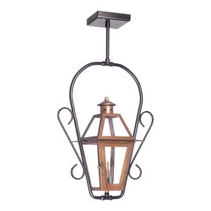 Outdoor Gas Ceiling Lantern Grande Isle Collection In Solid Brass In An Aged Copper Finish. by Elk Lighting