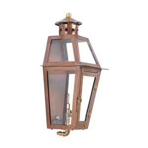 Outdoor Gas Wall Lantern Grand Isle Collection In Solid Brass In An Aged Copper Finish. by Elk Lighting