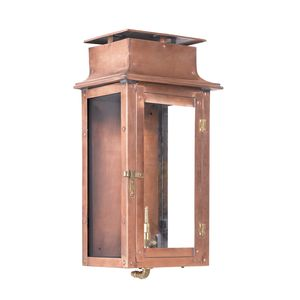 Outdoor Gas Wall Lantern Maryville Collection In Solid Brass In An Aged Copper Finish. by Elk Lighting