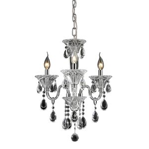 3 Light Crystal Chandelier In Clear & Chrome Finish by Elk Lighting