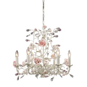 6 Light Chandelier In Cream by Elk Lighting