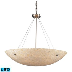 8 Light Pendant In Satin Nickel And Pearl Stone by Elk Lighting