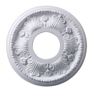 Acanthus Medallion 11 Inch In White Finish by Elk Lighting