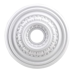 English Study Medallion 18 Inch In White Finish by Elk Lighting
