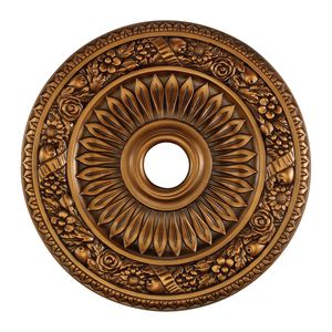 Floral Wreath Medallion 24 Inch In Antique Bronze Finish by Elk Lighting