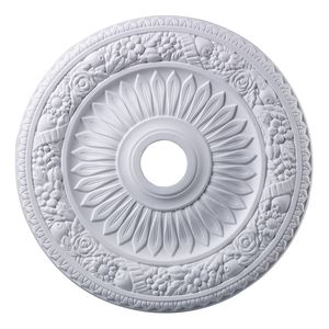 Floral Wreath Medallion 24 Inch In White Finish by Elk Lighting