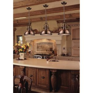 Chadwick 3-Light Island Light In Satin Nickel by Elk Lighting
