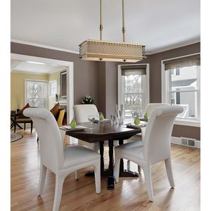 Chester 4-Light Pendant In Brushed Antique Brass by Elk Lighting