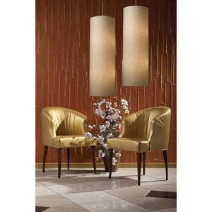 Fabric Cylinder 20-Light Round Pendant In Satin Nickel by Elk Lighting