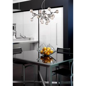 Molecular Collection 18-Light Semi-Flush In Chrome With Rainbow Glass by Elk Lighting