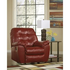 Alliston DB Rocker Recliner - Salsa by Ashley Furniture