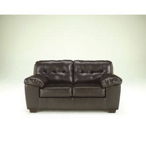 Alliston DB Loveseat - Chocolate by Ashley Furniture