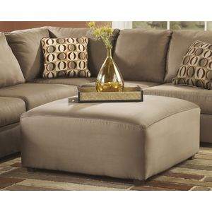 Cowan Oversized Accent Ottoman - Mocha by Ashley Furniture