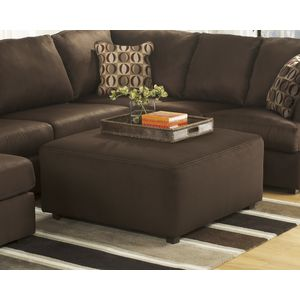 Cowan Oversize Accent Ottoman - Café by Ashley Furniture