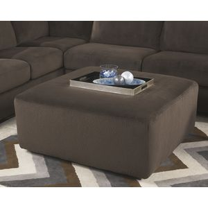 Jessa Place Oversized Accent Ottoman - Chocolate by Ashley Furniture