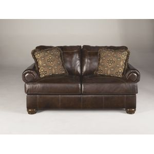 Axiom Loveseat - Walnut by Ashley Furniture