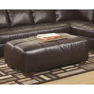 DuraBlend Oversized Accent Ottoman - Mahogany by Ashley Furniture