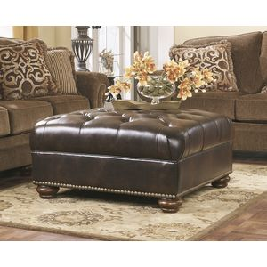 Presidio Oversized Accent Ottoman - Antique by Ashley Furniture