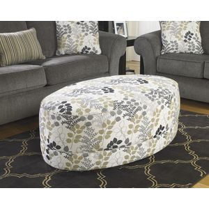Makonnen Oversized Accent Ottoman - Charcoal by Ashley Furniture