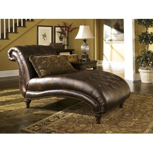 Claremore Chaise - Antique by Ashley Furniture