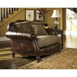 Claremore Chair and a Half - Antique by Ashley Furniture