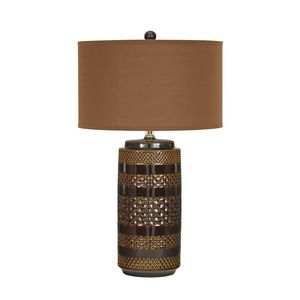 Shadeena Ceramic Table Lamp by Ashley Furniture