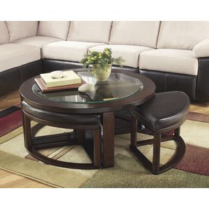 Marion Cocktail TBL w/4 Stools by Ashley Furniture