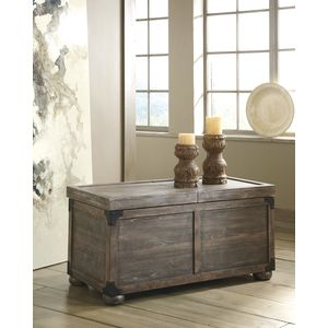 Rustic Accents Storage Cocktail Tbl by Ashley Furniture