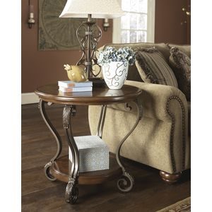 Nestor Round End Table by Ashley Furniture