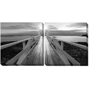 Gallery Wrapped Canvas Black/White by Ashley Furniture