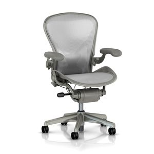 Aeron Fully Loaded PostureFit - Titanium - By Herman Miller