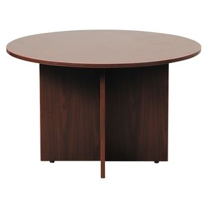 office table round. round office table with mahogany finish 47in by boss products