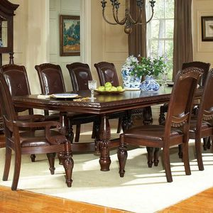 Antoinette Double Pedestal Dining Table By Steve Silver
