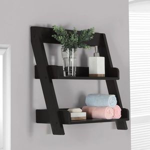 24 In Bathroom Wall Mount Shelf With Cappuccino Finish By Monarch  Specialties