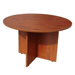 office table round. round office table with cherry finish 47in by boss products